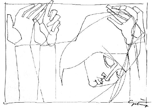 Czétényi Vilmos: Kezek (vázlat)
