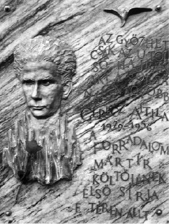 Gérecz Attila emléktáblája