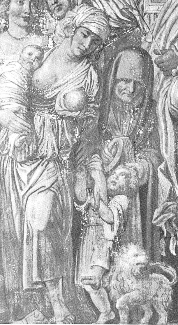"""Mantegna: Julius Caesar diadalmenete, """"tüske-részlet"""""""