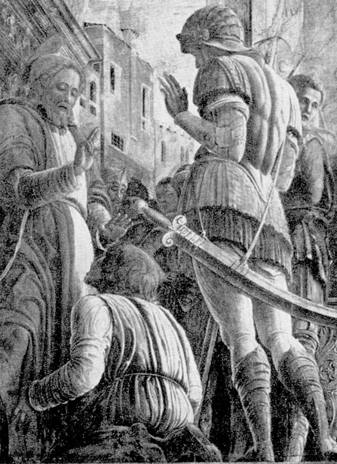 Mantegna: Szent Jakabot a vesztőhelyre kísérik (részlet)