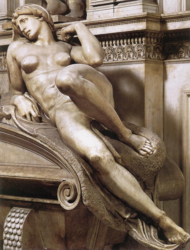 Michelangelo: A Hajnal (a Medici-kápolnából)