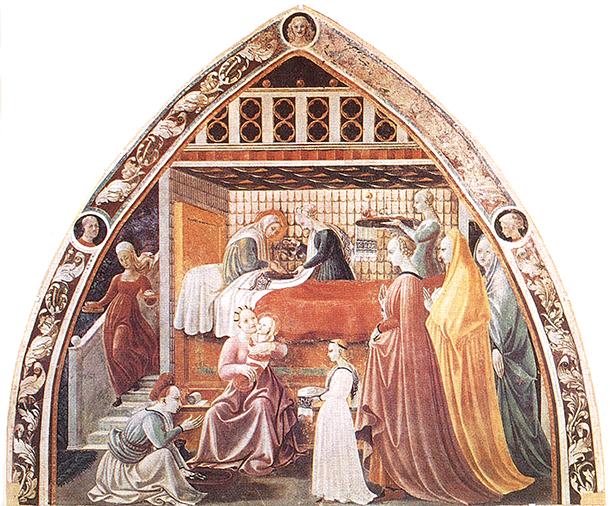 Uccello: Szűz Mária születése